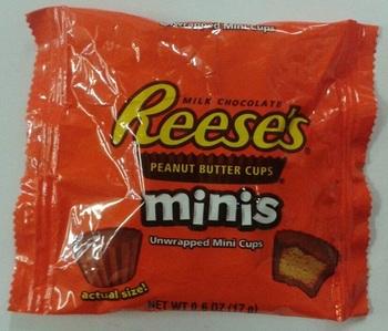 Арахисовая паста в шоколаде Reese's Minis 17 г.