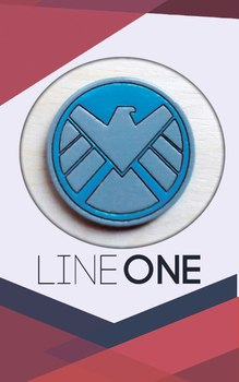 Деревянный значок Щ.И.Т. / S.H.I.E.L.D.