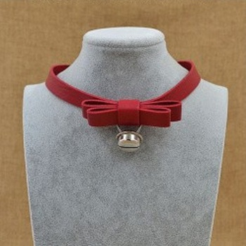 Чокер Бант/Колокольчик (Красный)