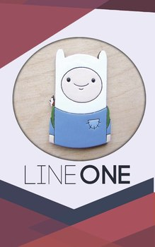Деревянный значок Финн Время Приключений / Finn Adventure Time
