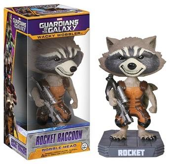 Фигурка Funko Wacky Wobbler Реактивный Енот Стражи Галактики / Rocket Raccoon Guardians of the Galaxy