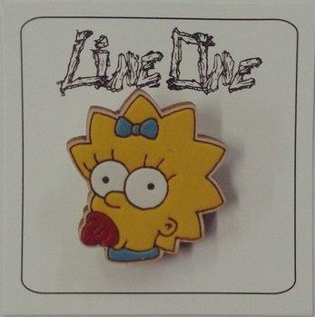 Деревянный значок Мэгги Симпсоны / Maggie The Simpsons