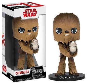Фигурка Funko Wobblers Чубакка и Порг Звёздные Войны / Chewbacca with Porg Star Wars