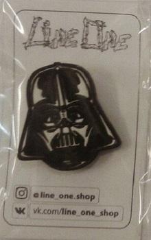 Деревянный значок Дарт Вейдер Звездные войны / Darth Vader Star Wars