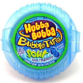 Жевательная резинка Hubba Bubba Blue Raspberry (Мега длина)