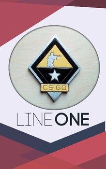 Деревянный значок CS GO