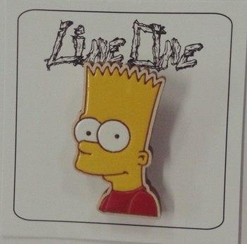 Деревянный значок Барт Симпсоны / Bart The Simpsons