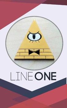 Деревянный значок Пирамида Гравити Фолз / Gravity Falls