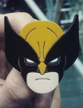 Деревянный значок Росомаха / Wolverine