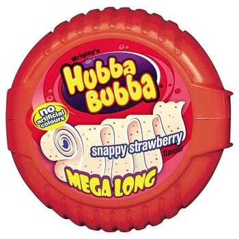 Жевательная резинка Hubba Bubba Snappy Strawberry (Мега длина)