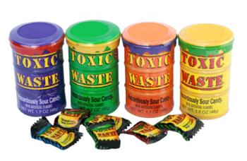 Леденцы Toxic Waste (контейнер)