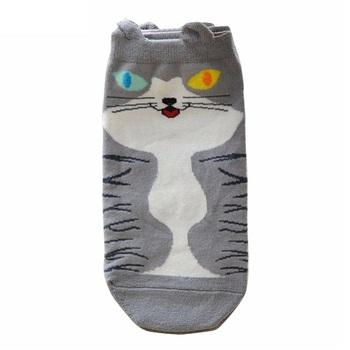 Носки Котики Бело-серые