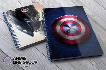 Скетчбук Captain America