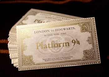 Билет на Хогвартс-экспресс Гарри Поттер / Hogwarts Express ticket Harry Potter