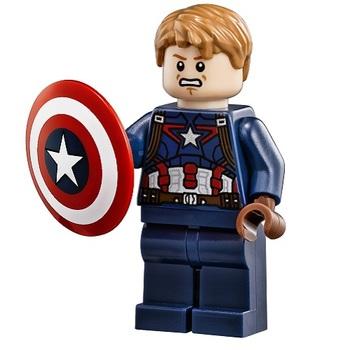 Минифигурка Капитан Америка без маски / Captain America Unmasked