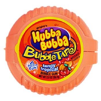 Жевательная резинка Hubba Bubba Tangy Tropical (Мега длина)