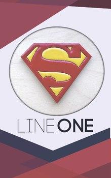 Деревянный значок Супермен / Superman