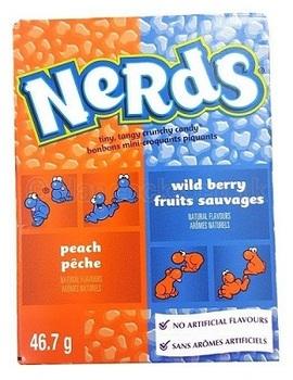 Конфеты Nerds Peach Peche / Wild Berry Fruits Sauvages