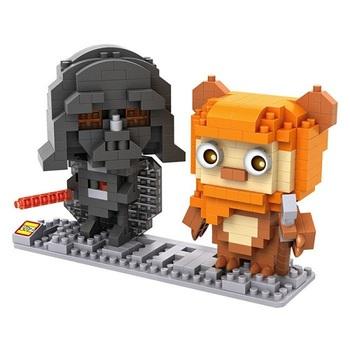 Конструктор LOZ Дарт Вейдер и Эвок Звёздные Войны / Darth Vader and Ewok Star Wars