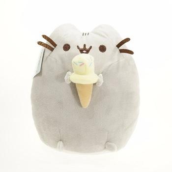 Мягкая игрушка Пушин с мороженкой / Pusheen (16 см)