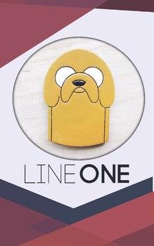 Деревянный значок Джейк Время Приключений / Jake Adventure Time