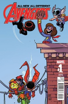 All-New All-Different Avengers. Annual #1 Cover D Variant Skottie Young Baby Cover