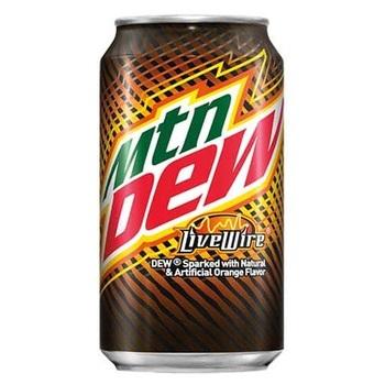 Mountain Dew LiveWire Апельсин (Банка 355 мл)