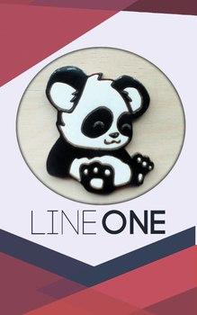 Деревянный значок Панда / Panda