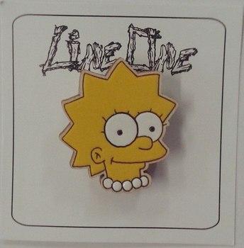 Деревянный значок Лиза Симпсоны / Lisa The Simpsons