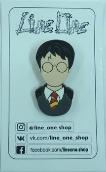 Деревянный значок Гарри Поттер / Harry Potter