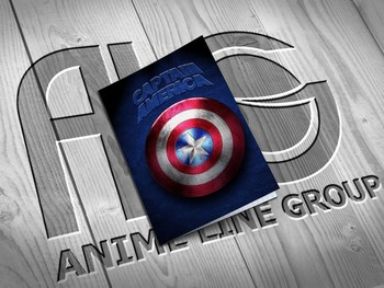 Captain America тетрадь на скобе
