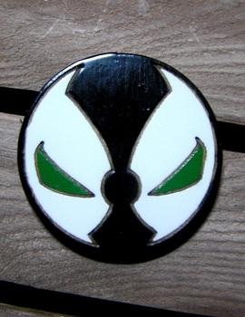 Деревянный значок Спаун / Spawn