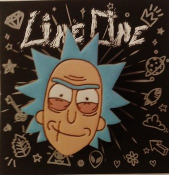 Деревянный значок Рик (Рик и Морти) / Rick (Rick and Morty)