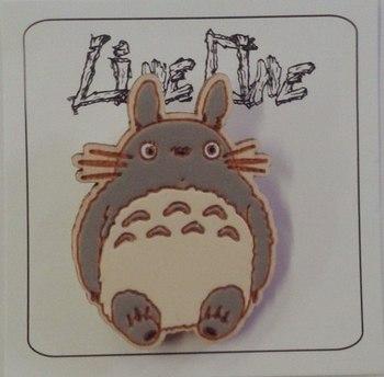 Деревянный значок Тоторо / Totoro