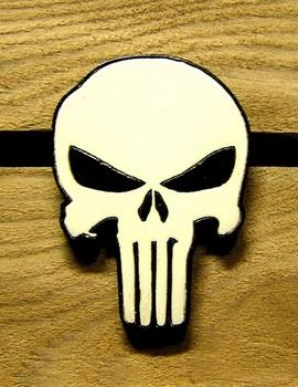 Деревянный значок Каратель / Punisher