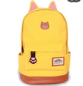 Minimalistic Cat Yellow рюкзак