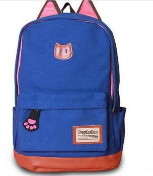 Minimalistic Cat Blue рюкзак