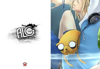 Adventure Time тетрадь на скобе