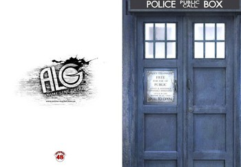 Doctor Who тетрадь на скобе