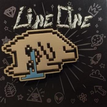 Деревянный значок Плачущий Кот 8 Бит / Crying Cat 8 Bit