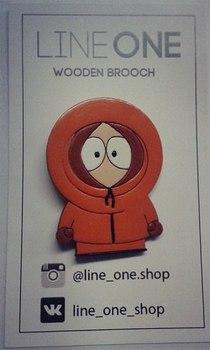 Деревянный значок Кенни Маккормик Южный Парк / Kenny McCormick South Park