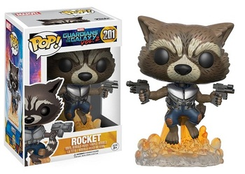 Фигурка-башкотряс Funko Реактивный Енот Стражи Галактики 2 / Rocket Raccoon Guardians of the Galaxy Vol. 2