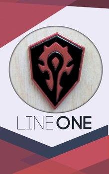 Деревянный значок Орда / Horde World of Warcraft