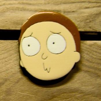 Деревянный значок Морти (Рик и Морти) / Morty (Rick and Morty)