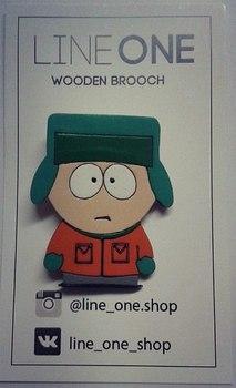 Деревянный значок Кайл Брофловски Южный Парк / Kyle Broflovski South Park