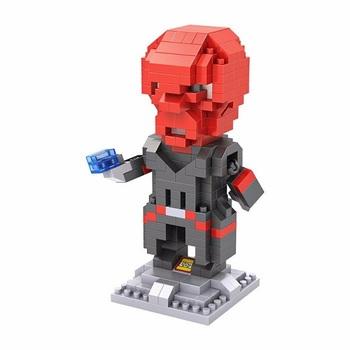 Конструктор LOZ Красный Череп / Red Skull