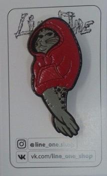 Деревянный значок Морской Котик / Fur Seal