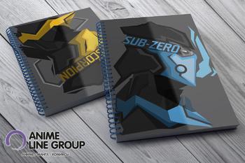 Скетчбук Sub-Zero / Scorpion