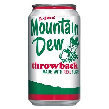 Mountain Dew Throwback Классический с Cахаром (Банка 355 мл)