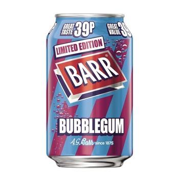 Barr Лимонад со вкусом Жвачки (Банка 330 мл)